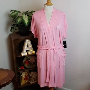 🚨NEW Ralph Lauren Pink Terry Cloth Logo Robe Sz L
